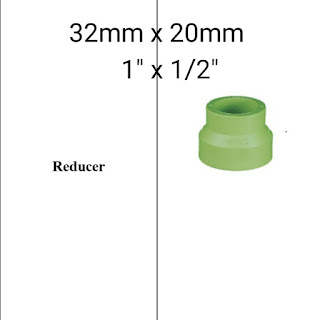 """Jual reducer pipa ppr lesso 1"""" x 1/2"""""""