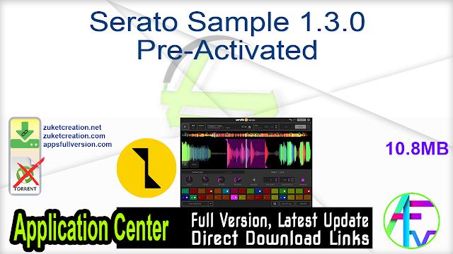 Serato Sample 1.3.0 Pre-Activated