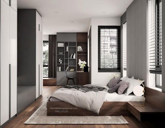 Phòng ngủ sang trọng tràn đầy ánh sáng kèm model SU tham khảo