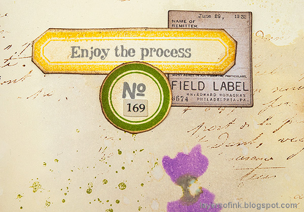 Layers of ink - Lavender Art Journal Page by Anna-Karin Evaldsson.