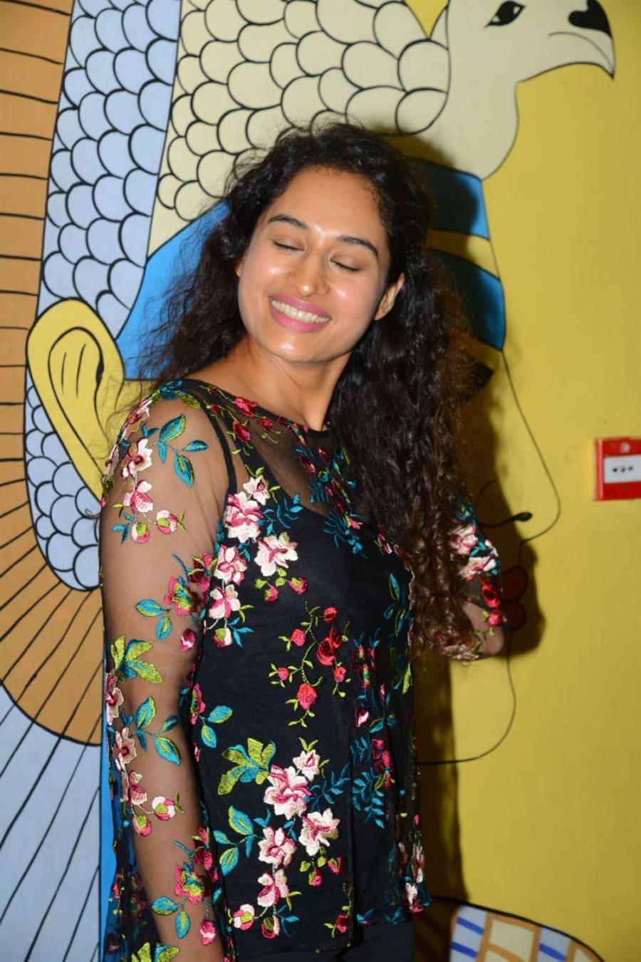 Telugu Actress Pooja Ramachandran at Evaru Movie Premiere Show