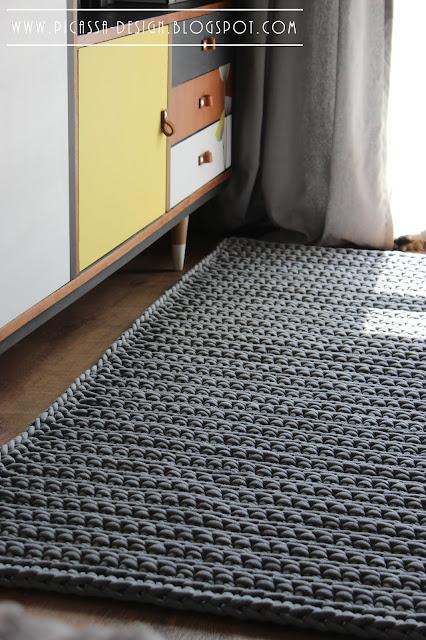 Chodnik ze sznurka – szydełkowy dywan dla dziecka
