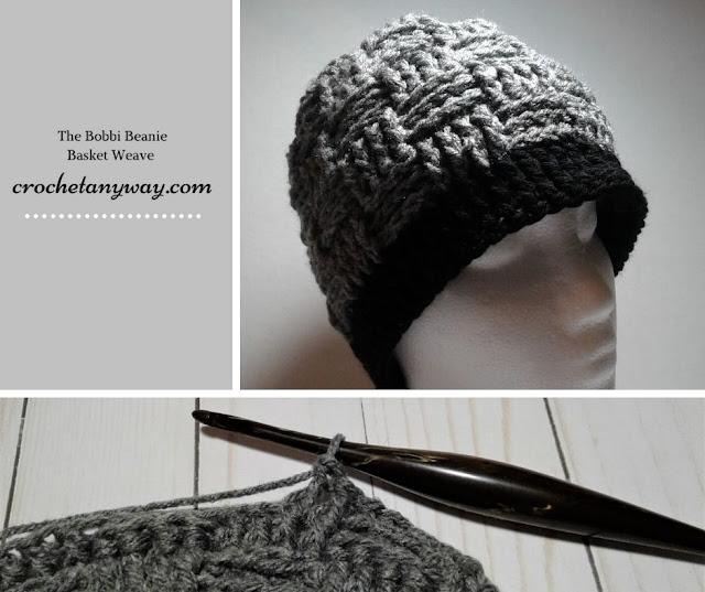 crochet hat basket weave stitch