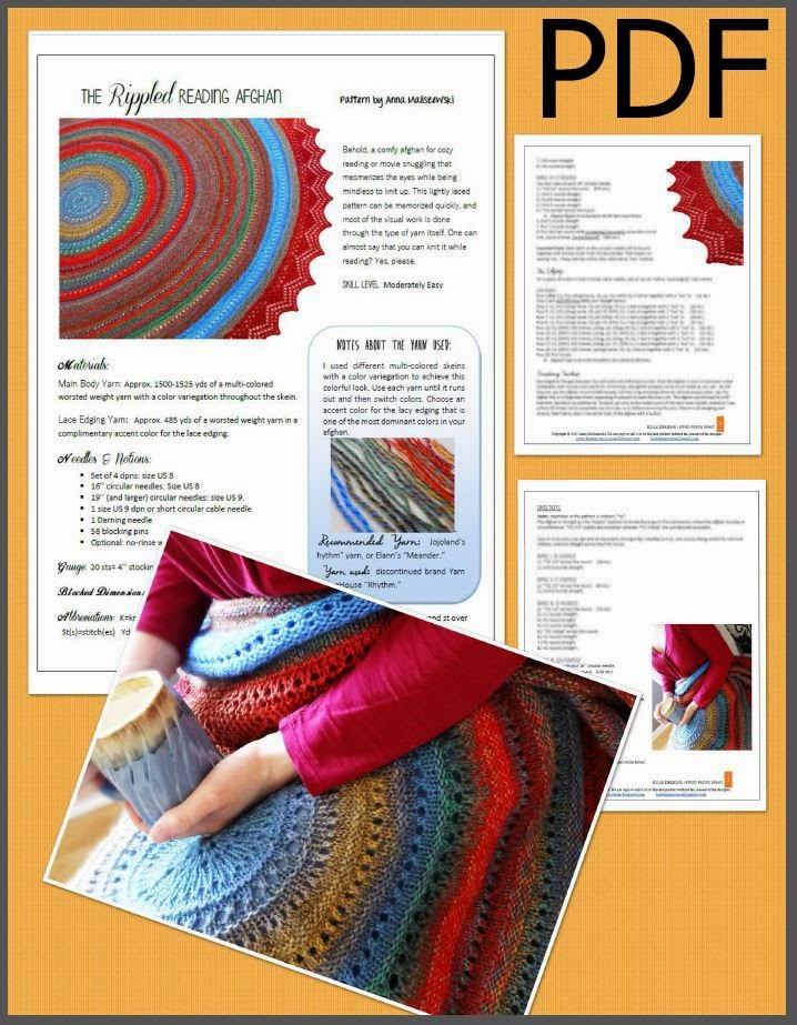the Rippled Reading Afghan