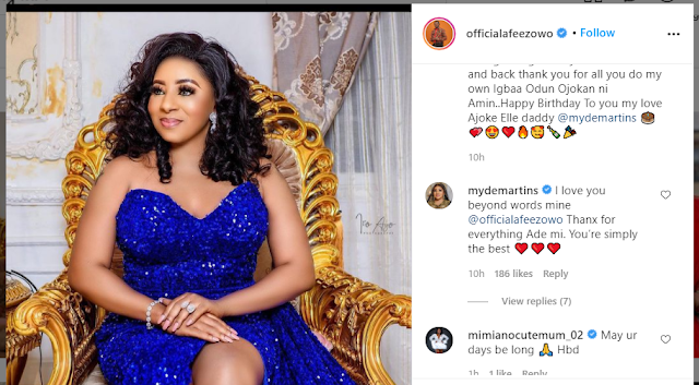 Happy birthday the love of my life - Afeez Owo celebrates his Wife Birthday Mide Martins (Photos)