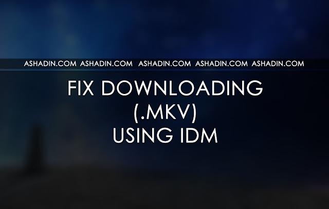 Cara atasi Video MKV yang tidak bisa terdownload otomatis dengan IDM