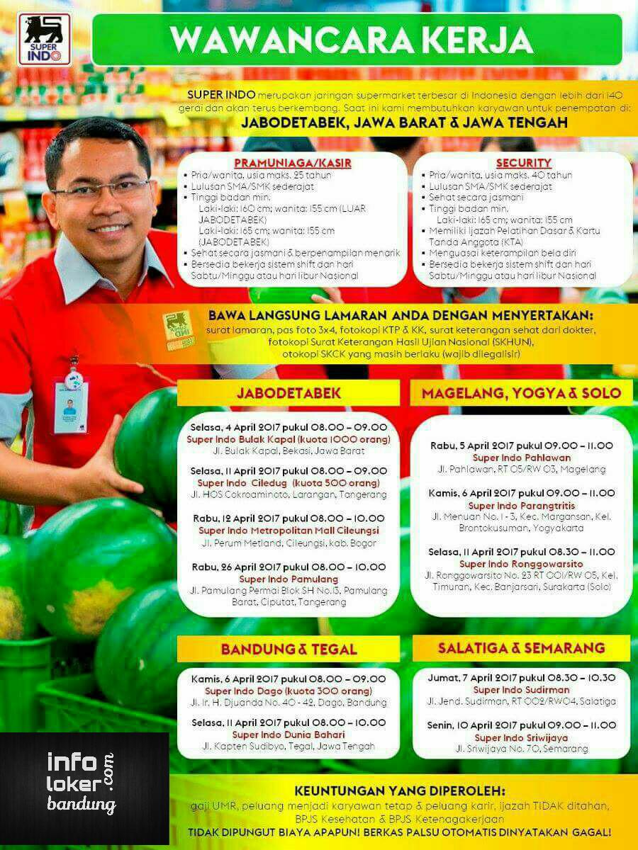 Lowongan Kerja Superindo Bandung April 2017