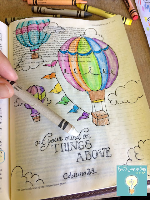 Bible Journaling Ideas: Hot Air Balloons