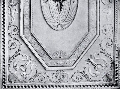 Part of the ceiling in the Saloon, Hatchlands  from The architecture of Robert and James Adam by AT Bolton (1922)