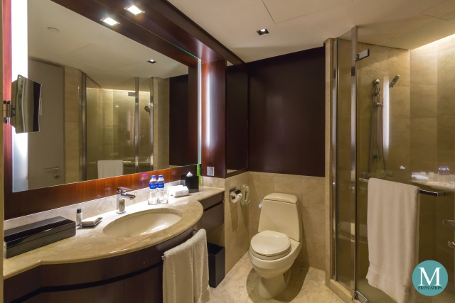 Deluxe Room Bathroom at New World Makati Hotel