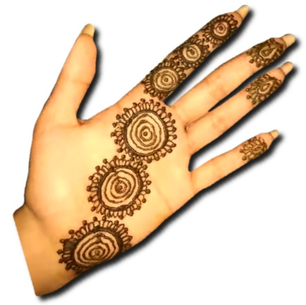 Easy Jewellery Mehndi Designs
