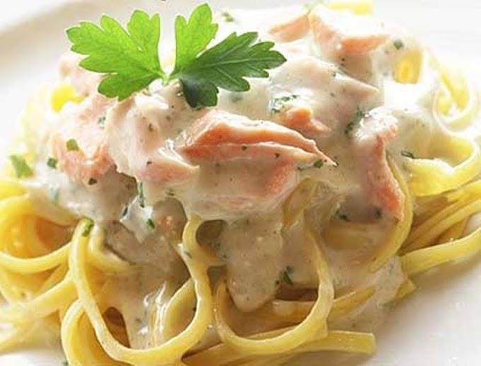 Spaghetti με Καπνιστό Σολομό