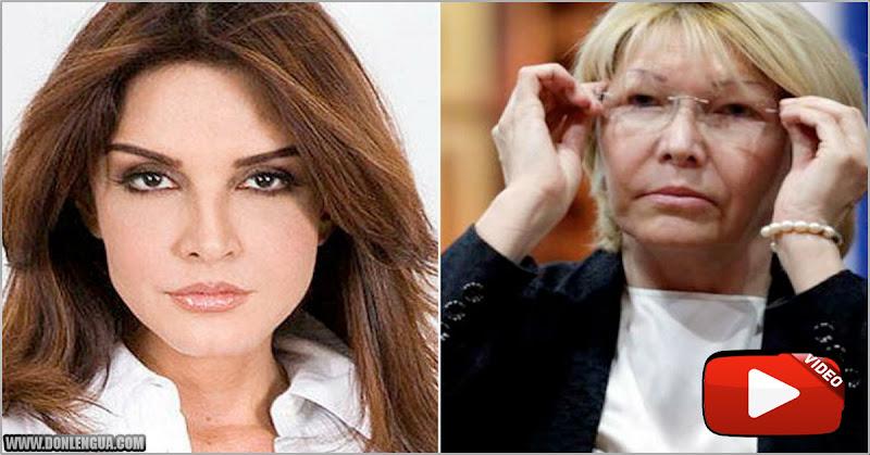 Kiara le dio hasta con el tobo a Luisa Ortega Díaz