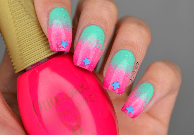 "NAILS | A Neon Gradient Means ""HELLO SUMMER""! #ManiMonday"