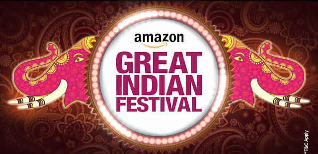 Amazon Great Indian Festival Sale 1st to 5th October, 2016