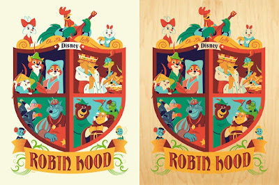Disney's Robin Hood Screen Print by Dave Perillo x Bottleneck Gallery x Eyeland Prints