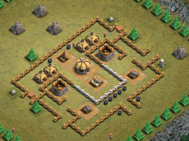 Goblin Base Clash of Clans Megablaster