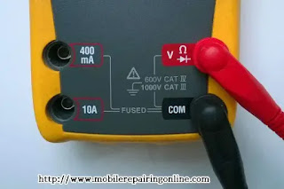 place it there and press it will fit in tightly there see a symbol written voltage ampere ohms