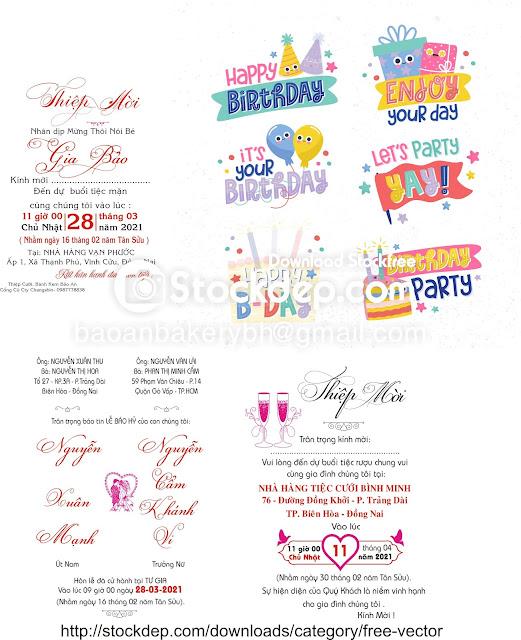 File tổng hợp thiệp cưới – thiệp sinh nhật