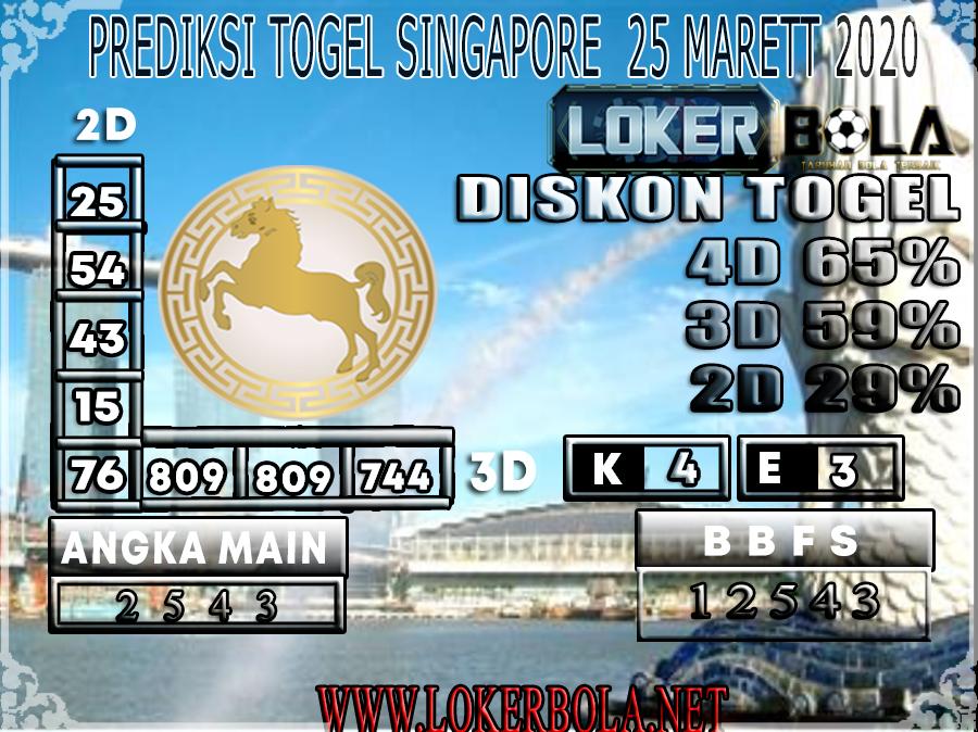 PREDIKSI TOGEL SINGAPORE LOKER BOLA 25 MARET 2020