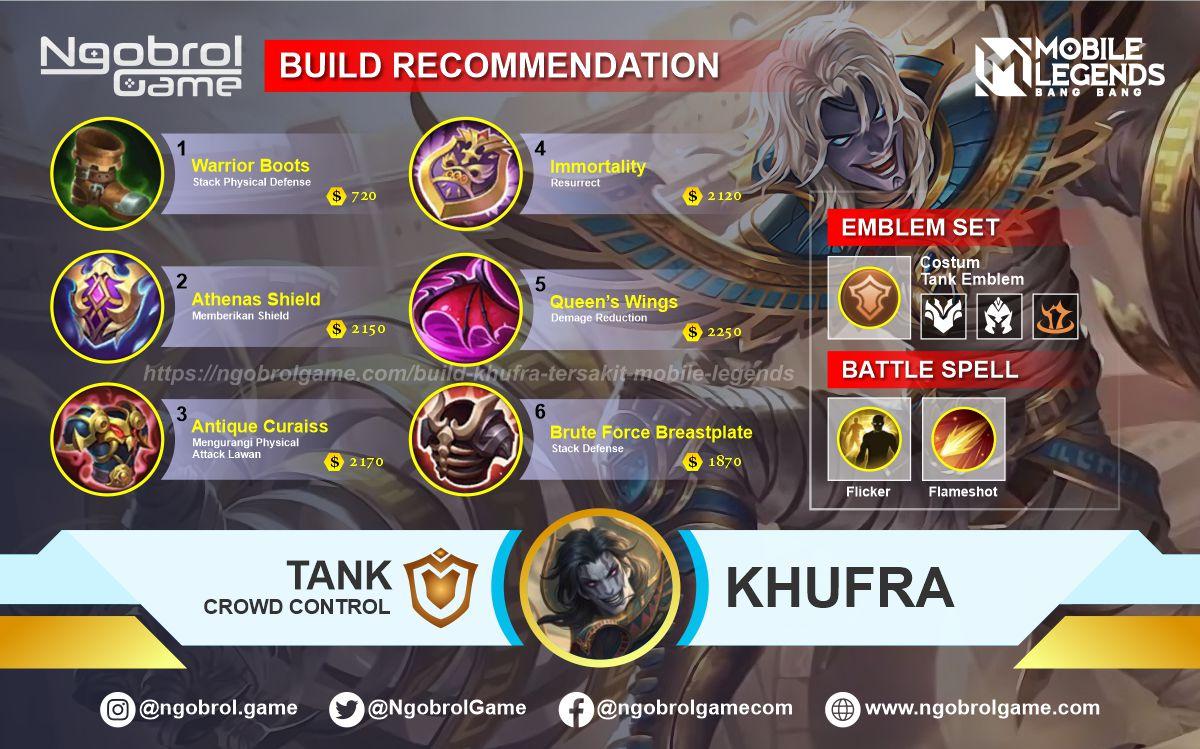Build Khufra Tersakit 2021 Mobile Legends