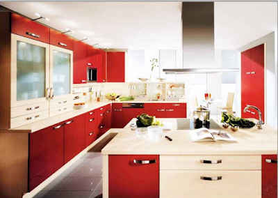 dapur minimalis warna cerah