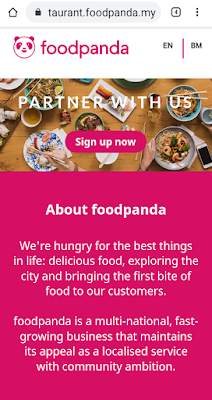 Sign up di foodpanda