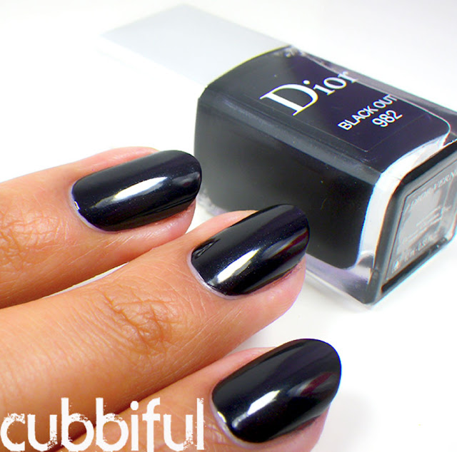 Swatch and Review - Dior Black Out