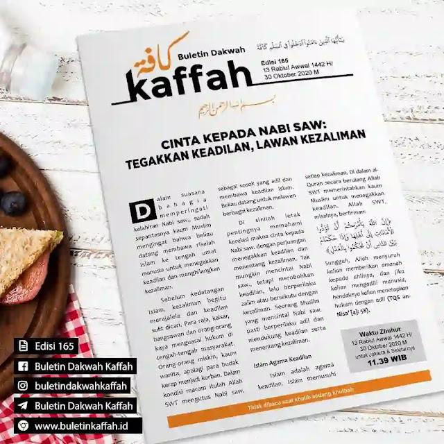 Buletin Kaffah No. 165, 13 Rabiul Awwal 1442 H/30 Oktober 2020 M