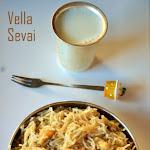 Vella Sevai Recipe | Jaggery Idiyappam | Sweet Idiyappam | Idiyappam with Jaggery & Coconut | Idiyappam Varieties