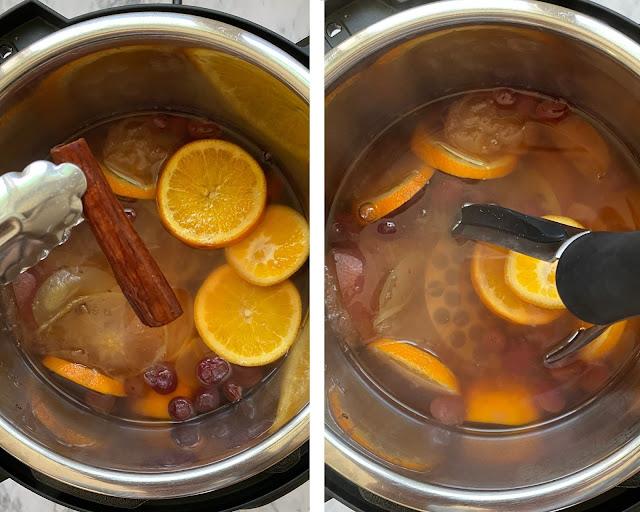 Steps to make Instant Pot Apple Cider
