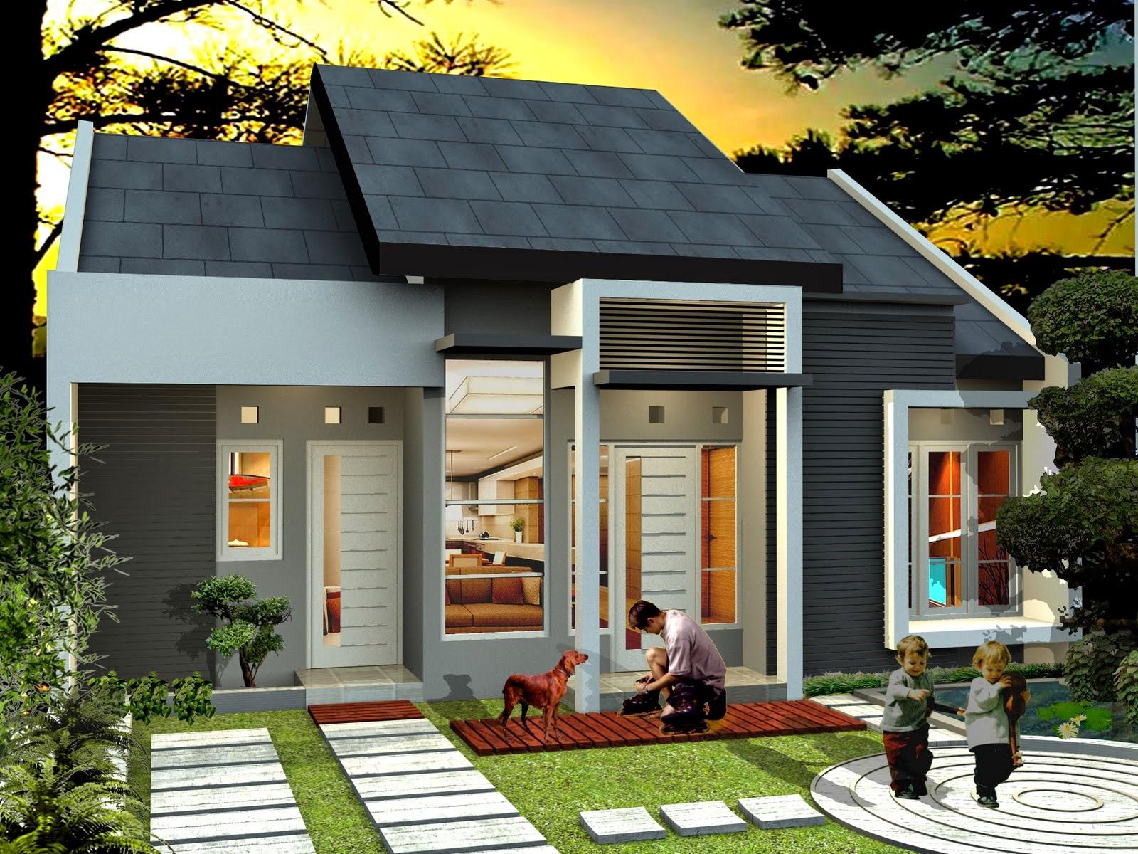 Rumah Minamalis Dengan Desain Eksterior Modern REFERENSI RUMAH