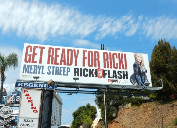 Ricki and the Flash film billboard