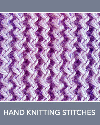 Learn Zig Zag Rib Twist Pattern with our easy to follow instructions at HandKnittingStitches.com