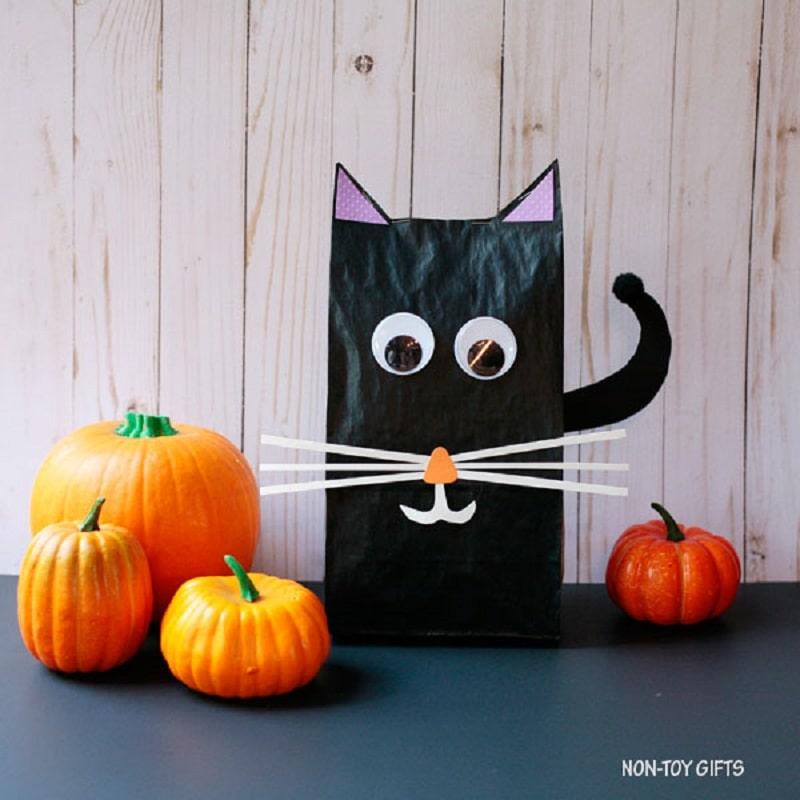 black cat stuffed bag craft