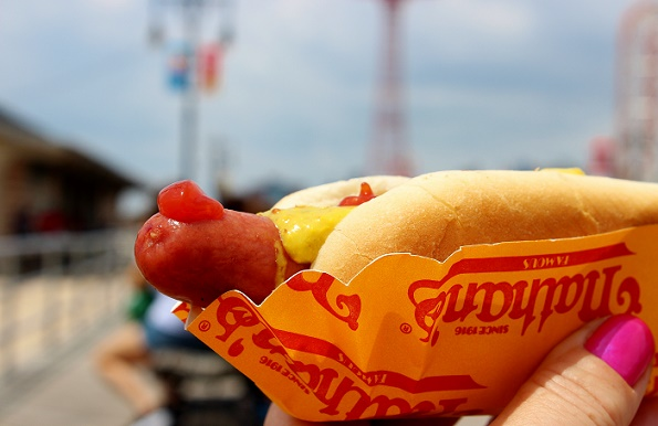 Nathan's hot dog Coney Island New York