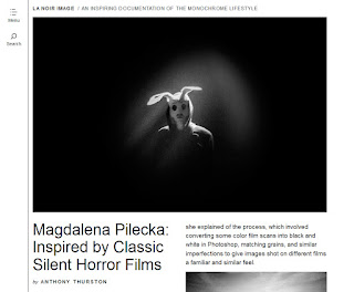 http://lanoirimage.com/magdalena-pilecka-inspired-by-classic-silent-horror-films/