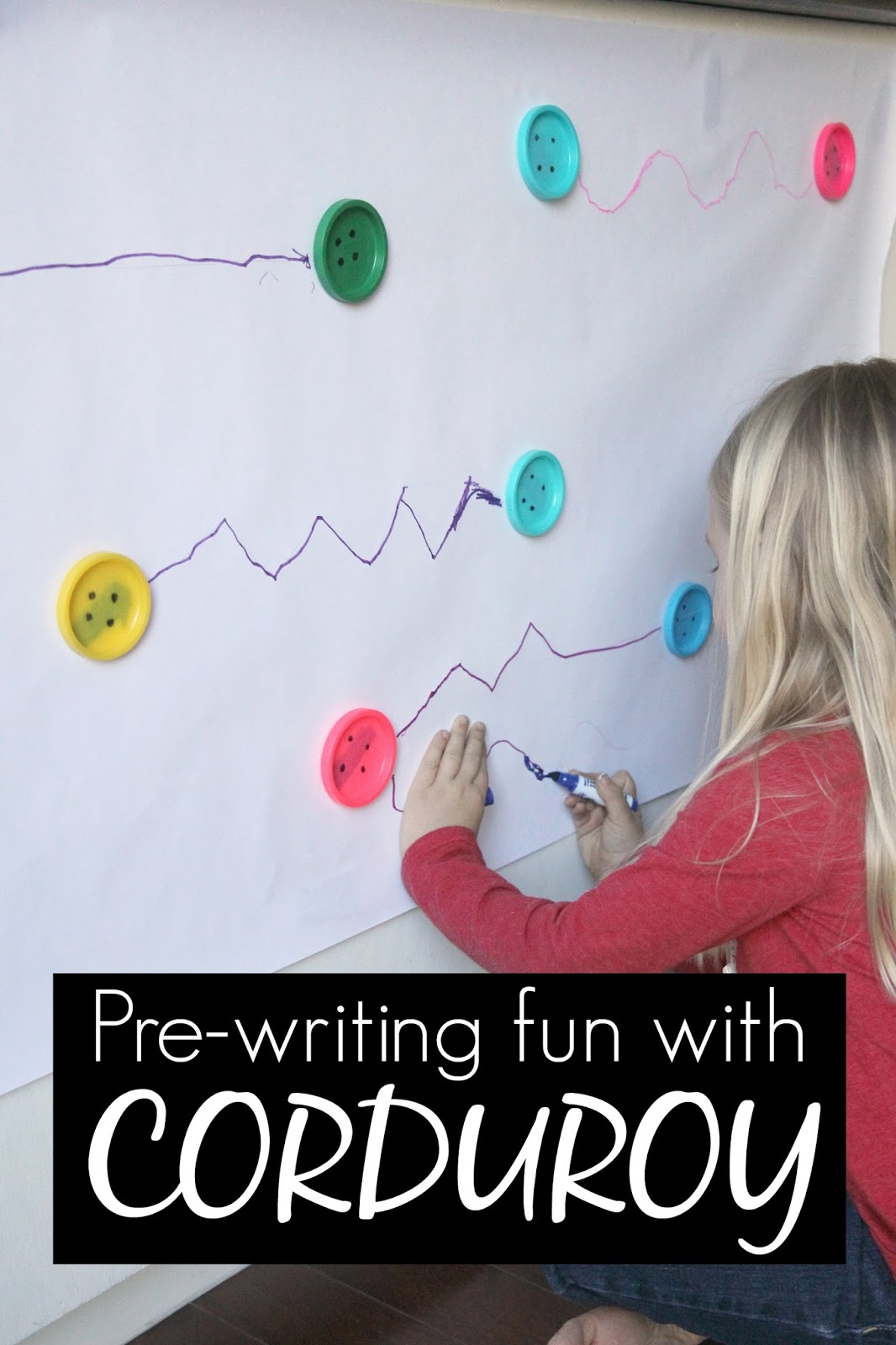 Toddler Approved Pre Writing Fun Inspired By Corduroy