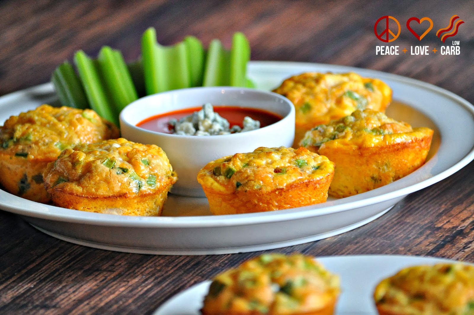 Buffalo Chicken Egg Muffins Low Carb Gluten Free