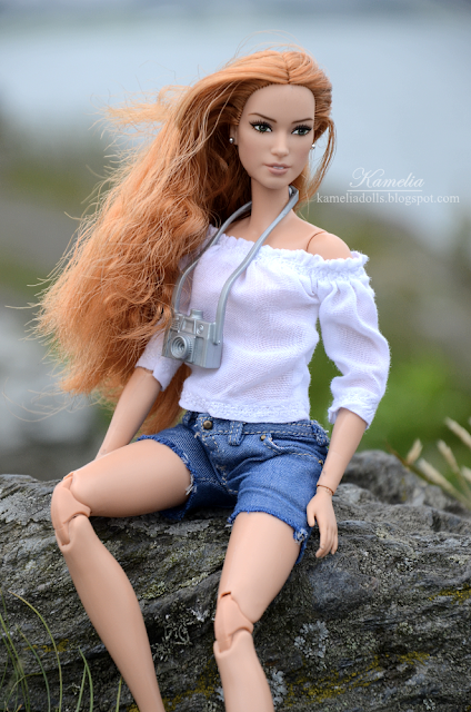 Denim shorts for made to move Barbie doll