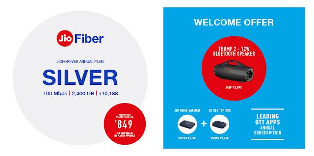 Jio Fiber Silver Plan