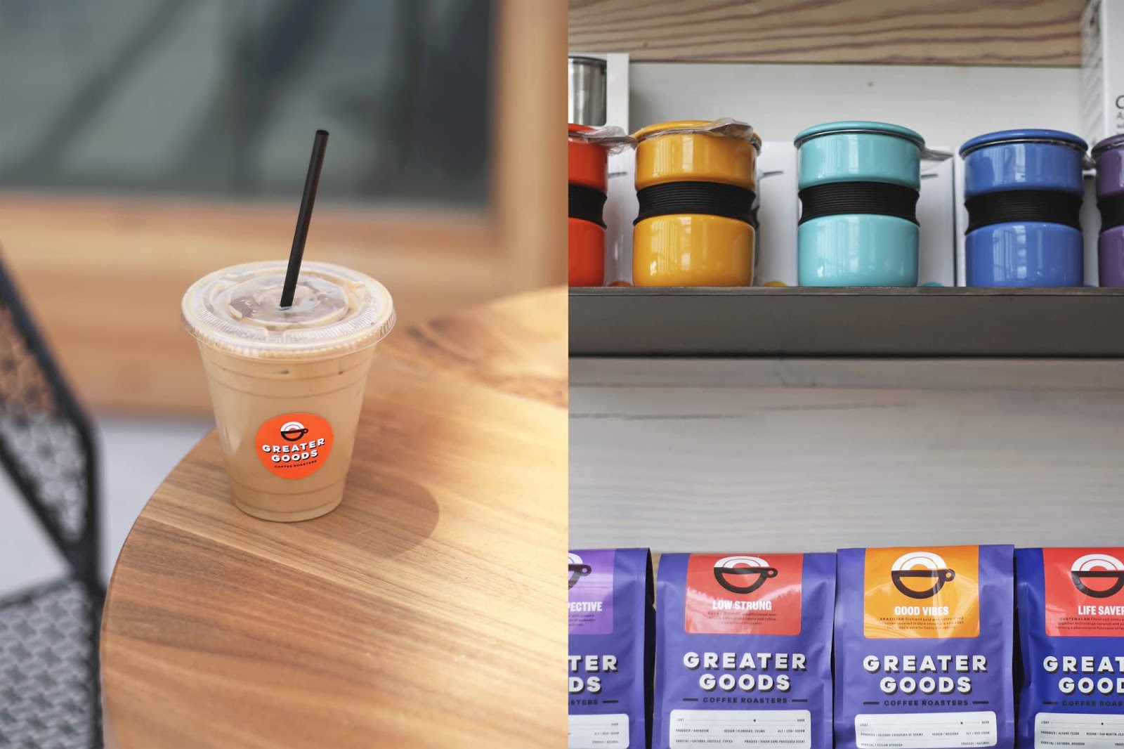 Greater Goods Coffee Roasters Austin, Iced Coffee, Cozy Coffee Shop, Coffee Shops Vibe