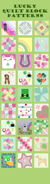 Lucky Charms themed quilt block patterns for March, spring, or Easter