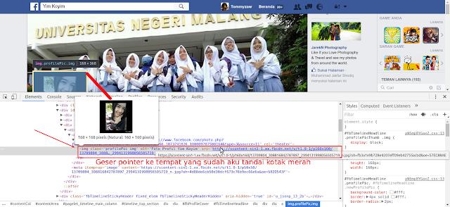 mengganti foto profile facebook