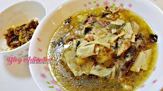 sup ayam dan sambal cili padi ikan bilis belimbing buluh