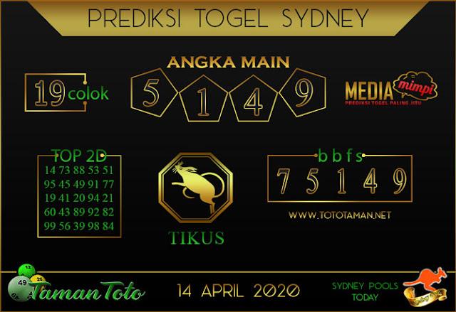 Prediksi Togel SYDNEY TAMAN TOTO 14 APRIL 2020