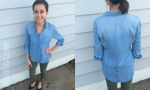 February 2016 Stitch Fix Review - Liverpool Olsson Button Down Top