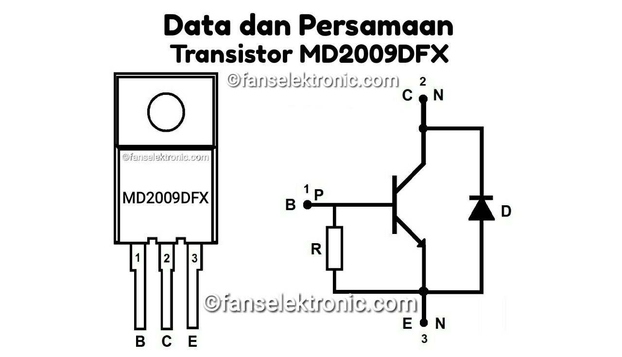 Persamaan Transistor MD2009DFX