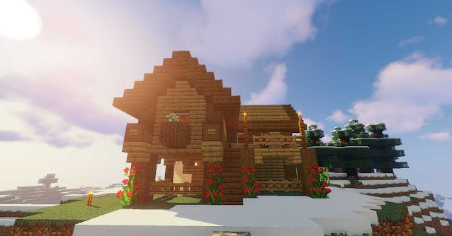 Minecraft Barn With Roof