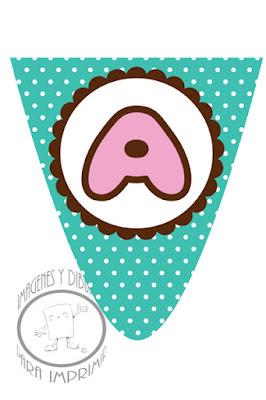 Banderines de Tsum Tsum con letras para imprimir